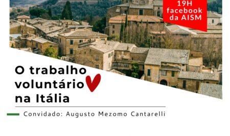 """Live """"O trabalho voluntário na Itália"""""""